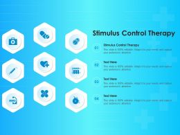 Stimulus Control Therapy Ppt Powerpoint Presentation Inspiration Templates