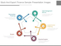 Stock And Export Finance Sample Presentation Images