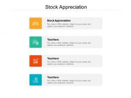 Stock Appreciation Ppt Powerpoint Presentation Guide Cpb