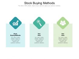 Stock Buying Methods Ppt Powerpoint Presentation Styles Designs Cpb