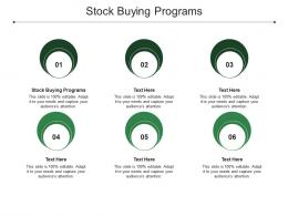 Stock Buying Programs Ppt Powerpoint Presentation Icon Samples Cpb