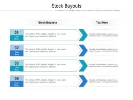 Stock Buyouts Ppt Powerpoint Presentation Pictures Mockup Cpb