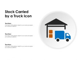Stock Carried By A Truck Icon