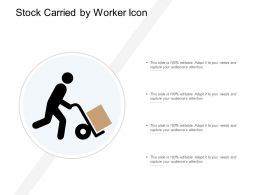 Stock Carried By Worker Icon