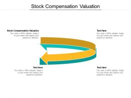 Stock Compensation Valuation Ppt Powerpoint Presentation Layouts Templates Cpb
