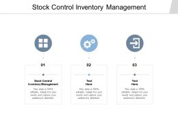 Stock Control Inventory Management Ppt Powerpoint Presentation Ideas Background Cpb