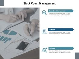 Stock Count Management Ppt Powerpoint Presentation Pictures Gridlines Cpb