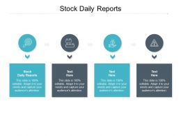 Stock Daily Reports Ppt Powerpoint Presentation Layouts Slide Cpb