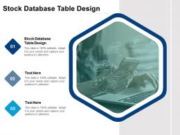 Stock Database Table Design Ppt Powerpoint Presentation Inspiration Graphics Template Cpb