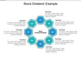 Stock Dividend Example Ppt Powerpoint Presentation Show Aids Cpb