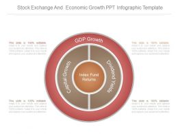 Stock Exchange And Economic Growth Ppt Infographic Template