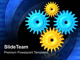 Stock Gear Powerpoint Templates Business Gears Wheels Diagram Ppt Presentation