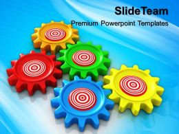 Stock Gear Powerpoint Templates Business Target Gearwheels Ppt Slides