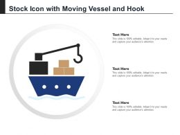 Stock Icon With Moving Vessel And Hook