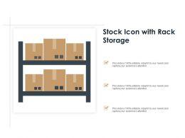 Stock Icon With Rack Storage