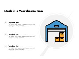 Stock In A Warehouse Icon