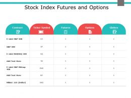 Stock Index Futures And Options Globex Ppt Powerpoint Presentation Outline Show