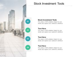 Stock Investment Tools Ppt Powerpoint Presentation Styles Samples Cpb