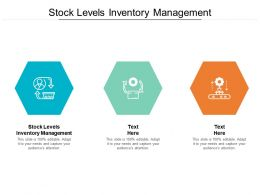Stock Levels Inventory Management Ppt Powerpoint Presentation Pictures Professional Cpb