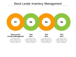 Stock Levels Inventory Management Ppt Powerpoint Presentation Slides Cpb