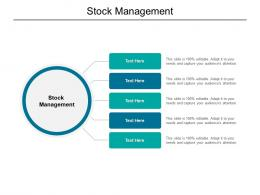 Stock Management Ppt Powerpoint Presentation Layouts Icons Cpb