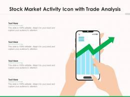 Stock Market Activity Icon With Trade Analysis