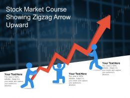 Stock Market Course Showing Zigzag Arrow Upward