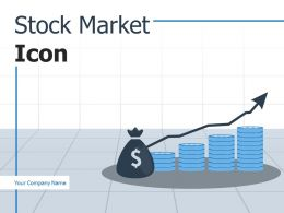 Stock Market Icon Currency Representing Investing Increasing