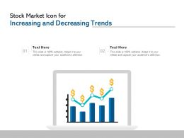 Stock Market Icon For Increasing And Decreasing Trends