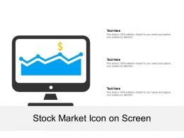 Stock Market Icon On Screen