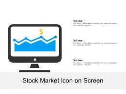 Stock Market Icon On Screen