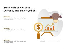 Stock Market Icon With Currency And Bulls Symbol