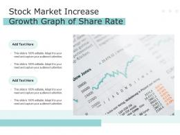 Stock Market Increase Growth Graph Of Share Rate