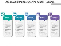 Stock Market Indices Showing Global Regional And National