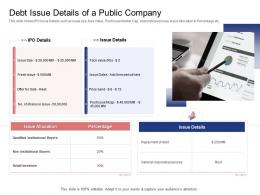 Stock Market Launch Banking Institution Debt Issue Details Of A Public Company Ppt Designs