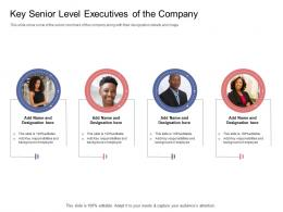 Stock Market Launch Banking Institution Key Senior Level Executives Of The Company Ppt Grid