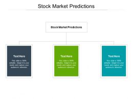 Stock Market Predictions Ppt Powerpoint Presentation Professional Visuals Cpb