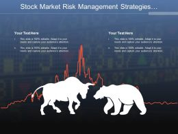 Stock Market Risk Management Strategies Having Two Bulls