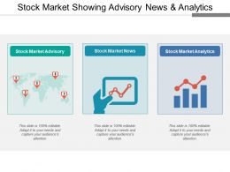 Stock Market Showing Advisory News And Analytics