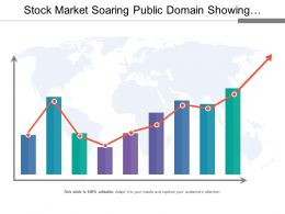 Stock Market Soaring Public Domain Showing Arrow Upward