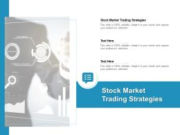 Stock Market Trading Strategies Ppt Powerpoint Presentation Portfolio Cpb