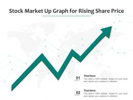 Stock Market Up Graph For Rising Share Price