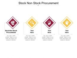 Stock Non Stock Procurement Ppt Powerpoint Presentation Professional Elements Cpb