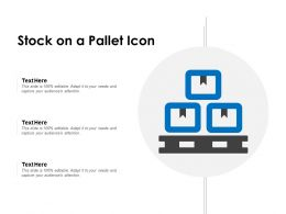 Stock On A Pallet Icon