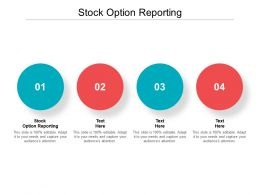 Stock Option Reporting Ppt Powerpoint Presentation Pictures Summary Cpb