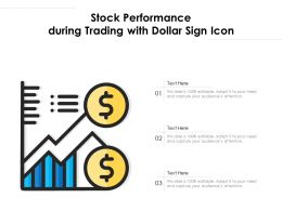Stock Performance During Trading With Dollar Sign Icon