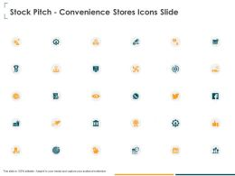 Stock Pitch Convenience Stores Icons Slide Ppt Powerpoint Presentation Ideas
