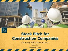 Stock Pitch For Construction Companies Powerpoint Presentation Ppt Slide Template