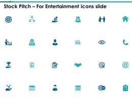 Stock Pitch For Entertainment Icons Slide Target L759 Ppt Powerpoint