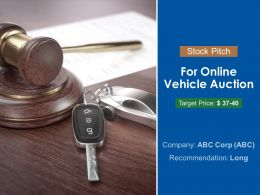 Stock Pitch For Online Vehicle Auction Powerpoint Presentation Slides